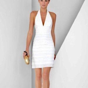 🆕NWD BCBG Max Azria White Halter Layered Dress